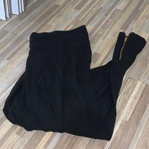 Old navy black leggings, gold zipper accents